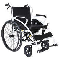 Maidesite SLY-117 Simplified Foldable & Portable Manual Wheelchair