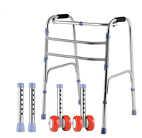 Maidesite WA01 Lightweight Foldable Orthopedic Rollator Walker