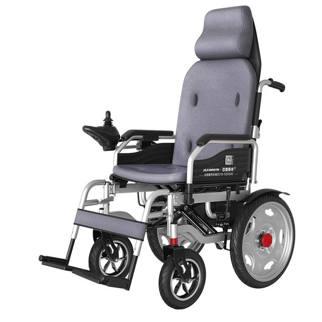 DLY-811 Dual Motors Portable High Back Lying Electric Wheelchair